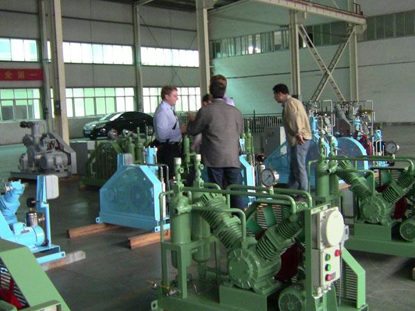 customer visit bailian compressor 3